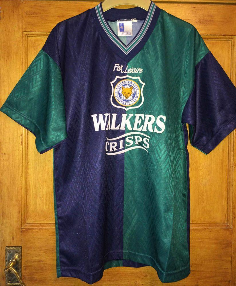 Design your own t-shirt leicester - Leicester City Shirt 1995 96 Season 3rd Kit Rare Exact Official Replica 38 40