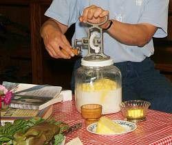 Lehman's Best Butter Churn Method of Making Butter