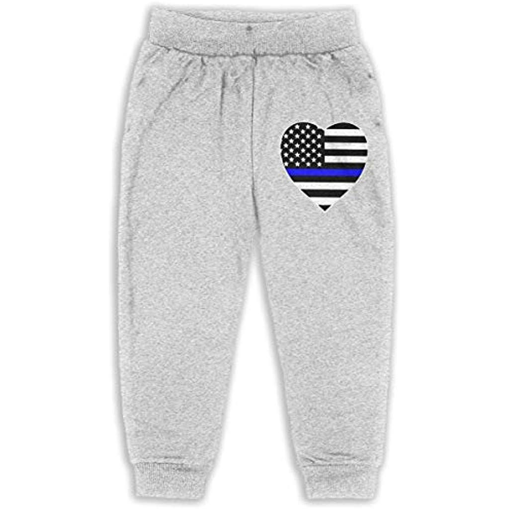 1348d2b3e4e7ec Kids Police Thin Blue Line American Flag Heart Stylish Sweatpants 2T-6  Spring Autumnn Sports Pants #bottomsup #bottomsdeutsch #bottomsupnewyork  #bottoms ...