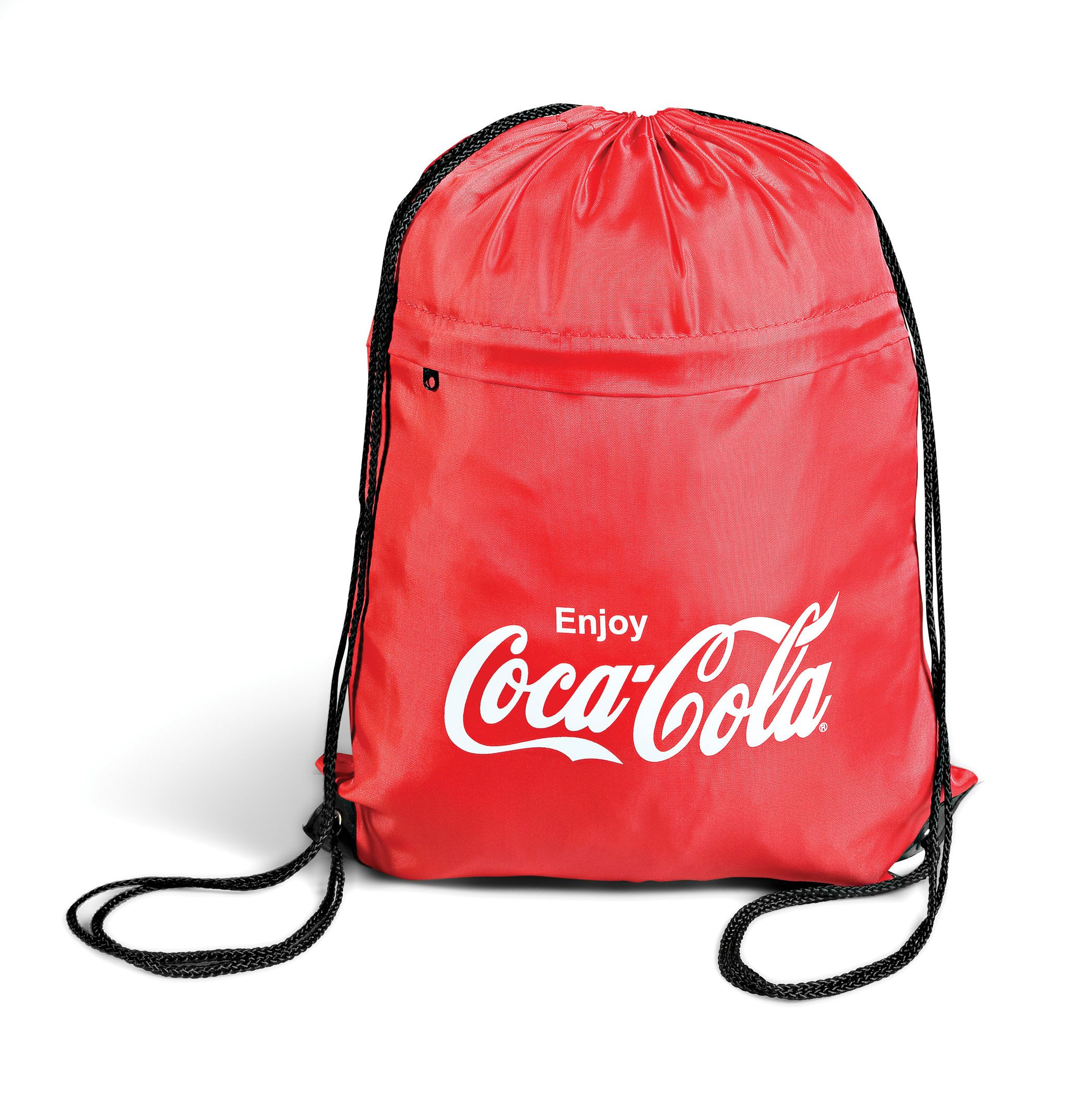 65d4fe0603bb Branded Coca Cola Drawstring Bag - Branded Merchandise, Promotional ...