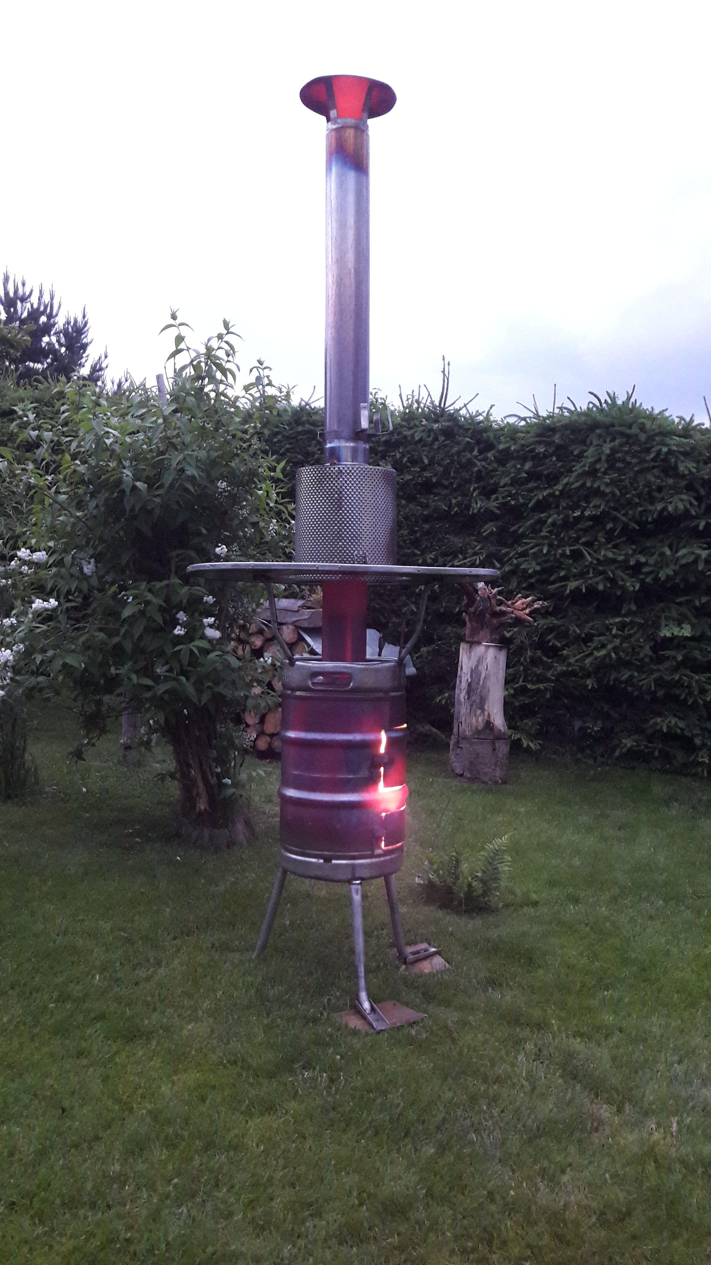 Mein Selbst Gebauter Heizpilz Bierfass Feuerloscher Selber Bauen
