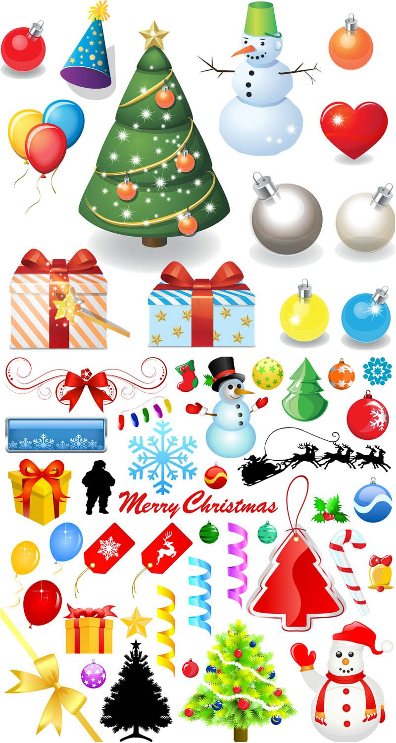 Cartoon Xmas Design Elements Vector Christmas Tree Design Christmas Clay Blue Christmas Tree