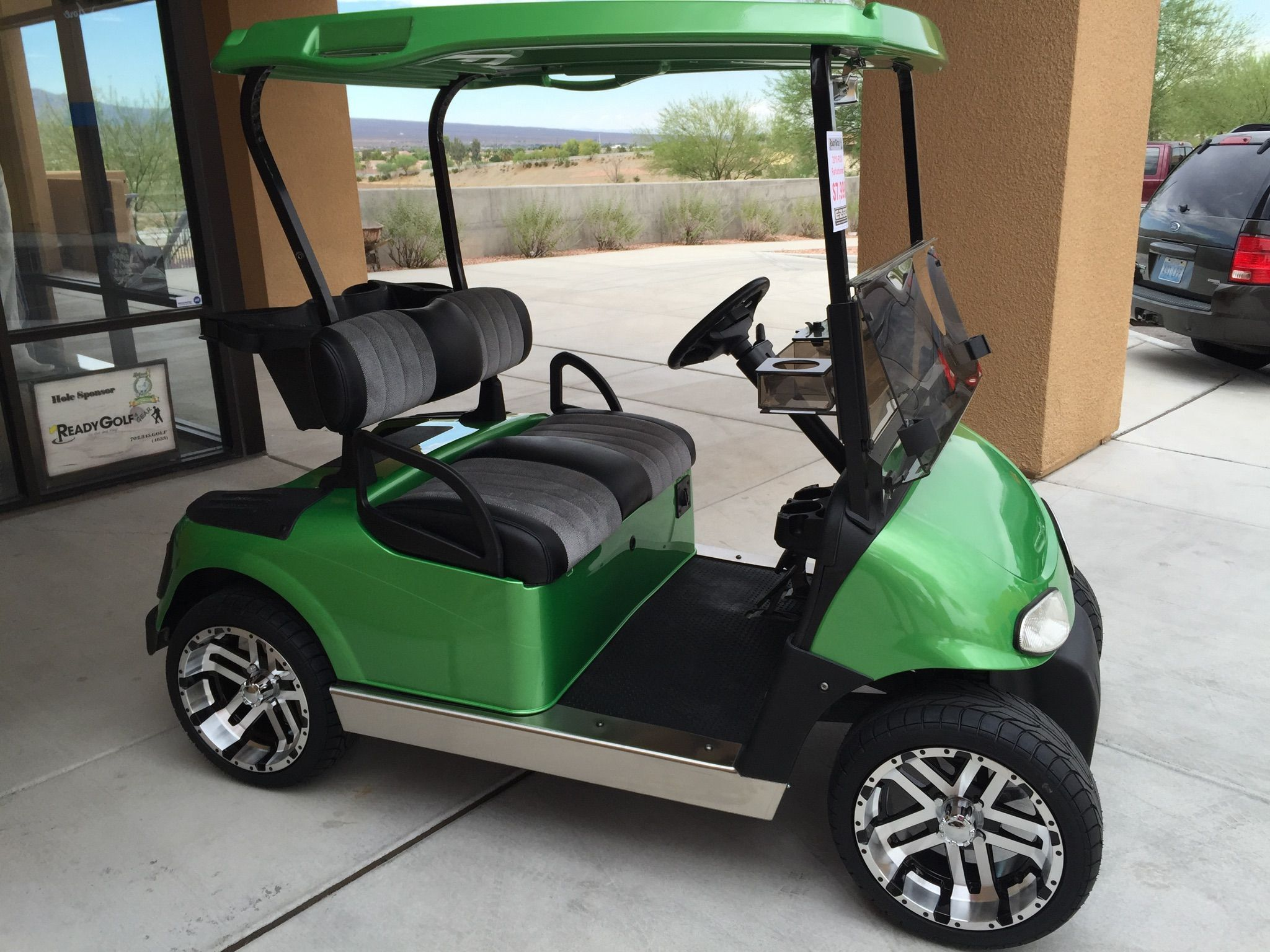 2010 #EZGO Refurb. Custom Paint, new batteries, wheels, seats ... on golf hole 8, golf lunch sponsor, beverage cart sponsor, golf hole sponsor,