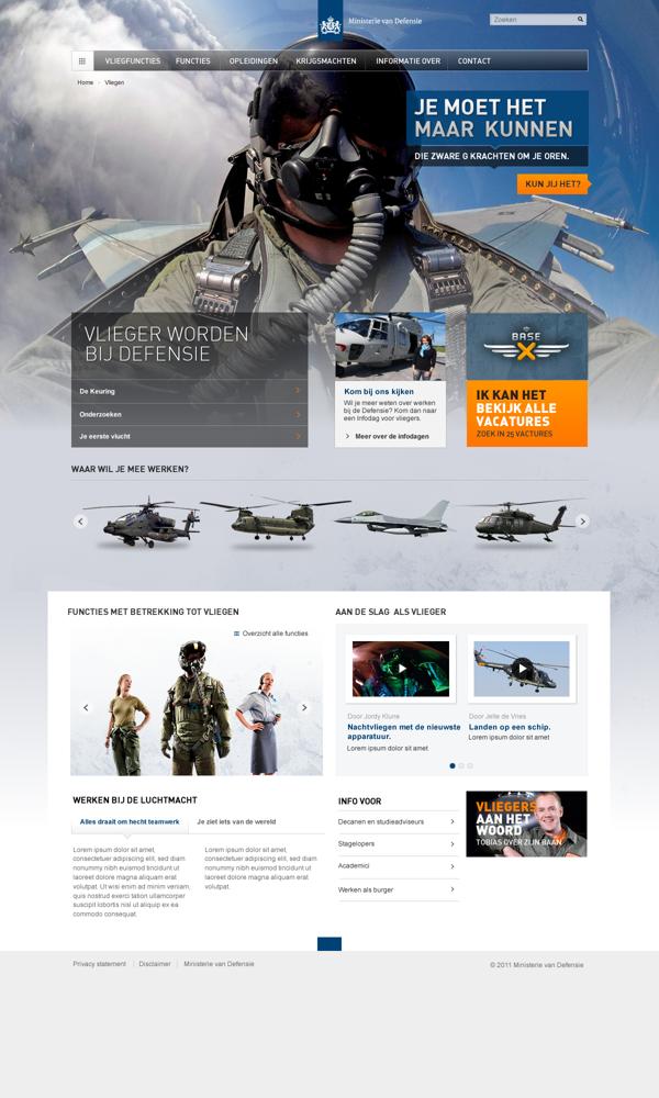 Ministerie van Defensie by Tom Arends, via Behance