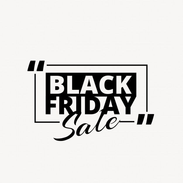 Black friday background with quotation marks Free Vector