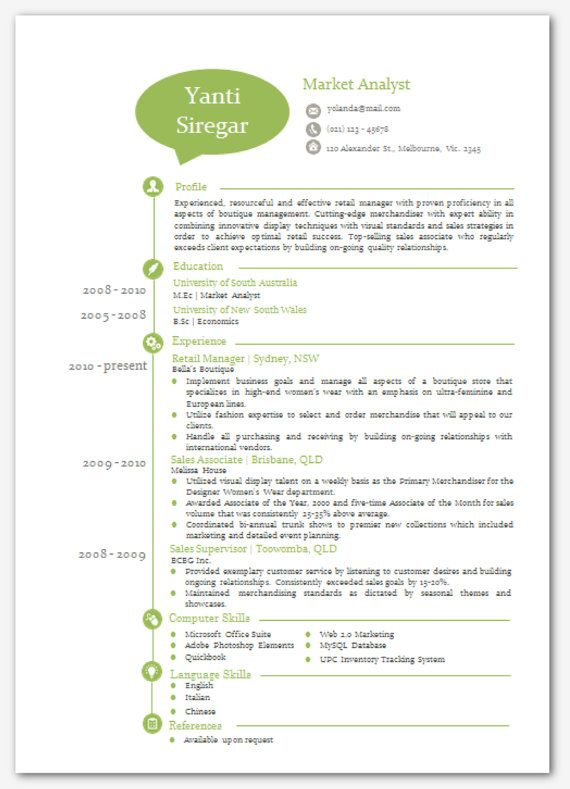 Modern Microsoft Word Resume Template Yanti Siregar By Inkpower