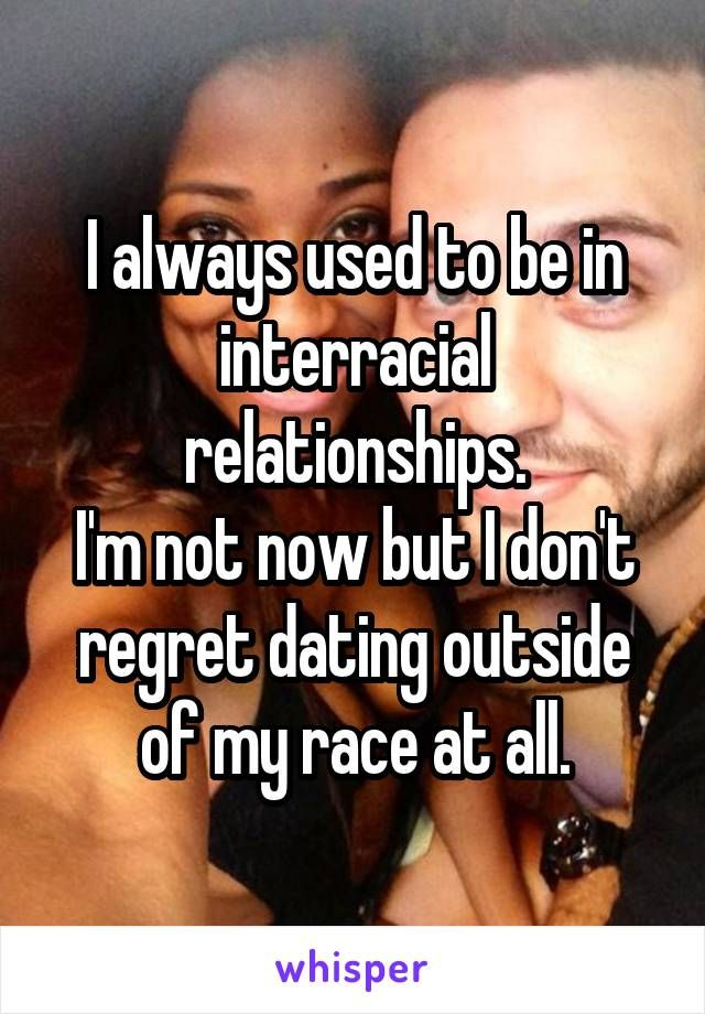 Lesbian regret interracial relations