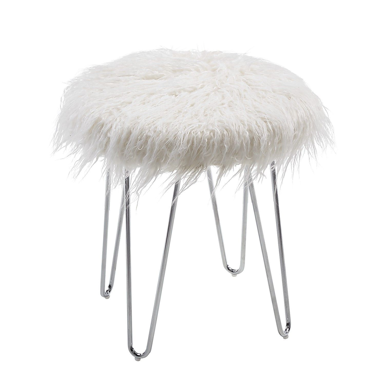 Swell Hairpin Fur Vanity Stool Diy Makeup Vanity In 2019 Caraccident5 Cool Chair Designs And Ideas Caraccident5Info