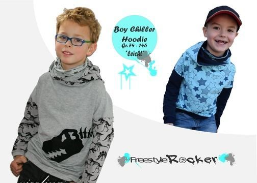 Hoodie * Boy Chiller * Schnittmuster + bebilderte Nähanleitung - Nähanleitungen bei Makerist