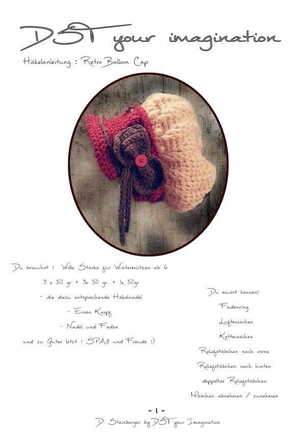 gratis Damen-Mütze Retro-Design selber häkeln