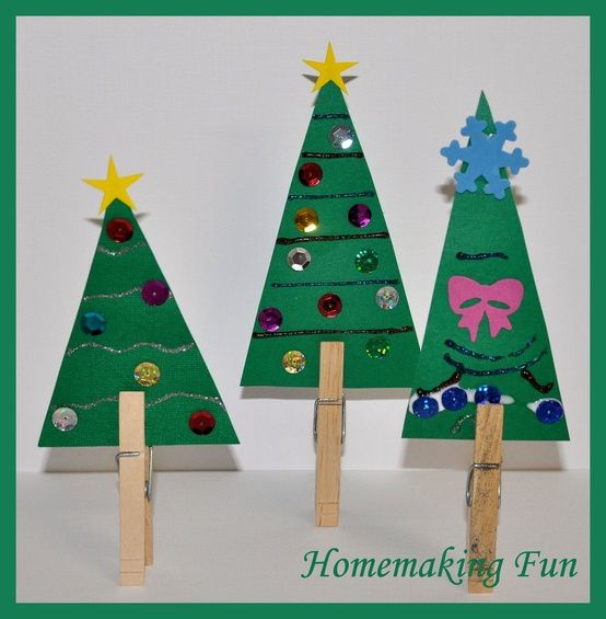 Elementary Christmas Craft Ideas Part - 45: Homemaking Fun: Christmas Craft Ideas For Kids. An Alternative Xmas Tree  Crafty Activity