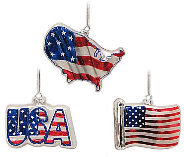 St Nicholas Square® American Flag Patriotic Christmas Ornament 3