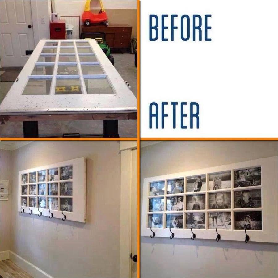 Door into coat rack and photo frame in one diy cozy home home