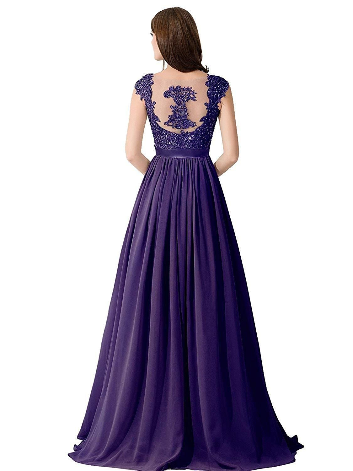 Babyonlinedress Babyonline Lace Backless Long Formal Evening Prom Dresses for Wedding Party #backlesscocktaildress