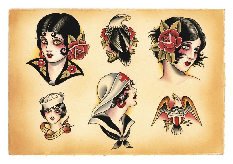 5b1aef6a3 American Traditional Tattoo Flash | SekretCity – Body of Work |  BizarreBeyondBelief