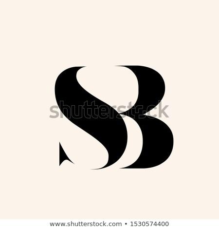 Sb Monogram Typographic Logo With Letter S And Letter B Overlapped Lettering Icon Alphabet Initials Sign Isolated On B Letter Logo B Letter Design Letter Logo