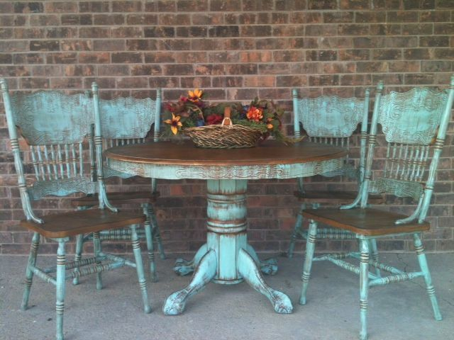 hometalk turquoise table and chairs - Google Search | Annie Sloan ...