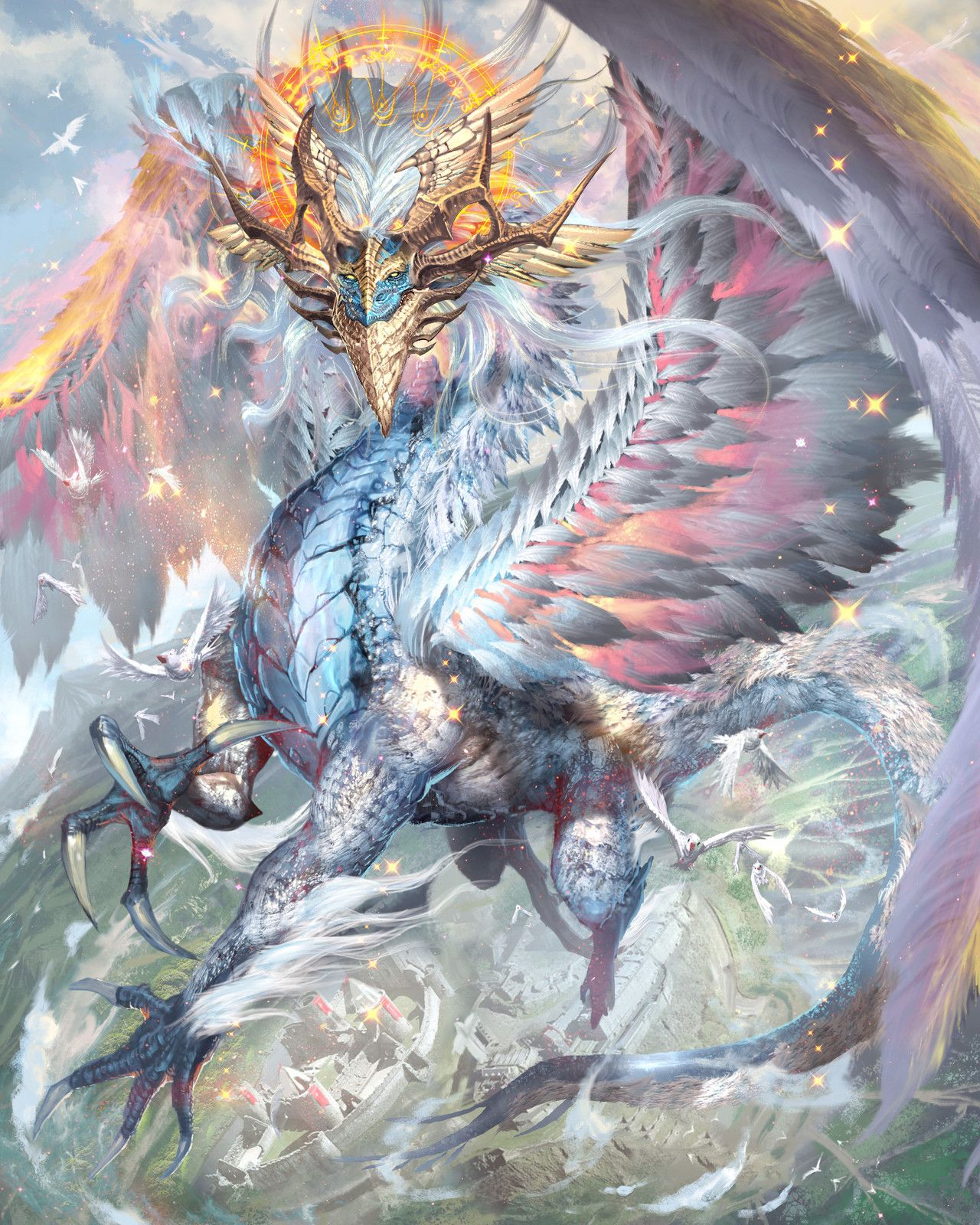 картинки фэнтези мистика драконы растения