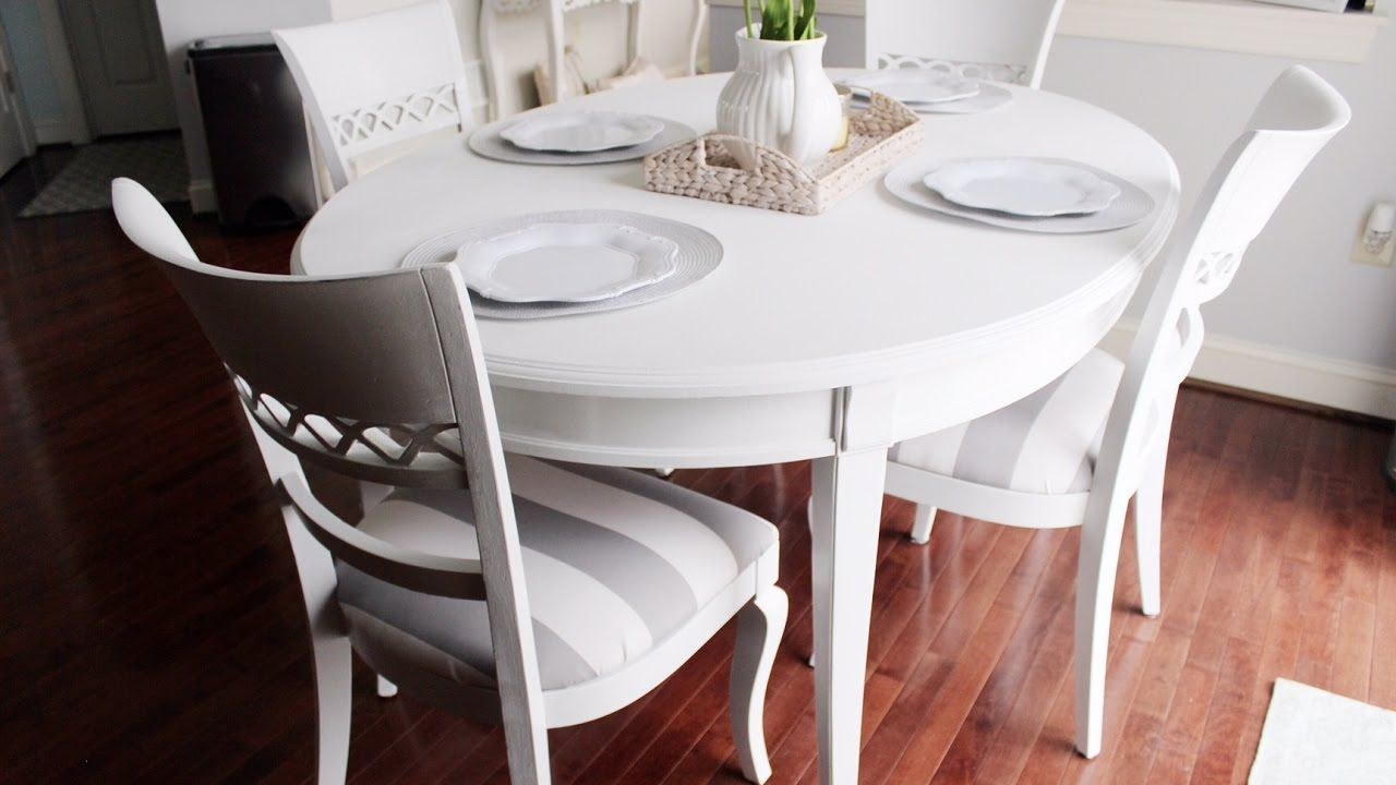Chalk paint kitchen dining table shabby chic style in chalk