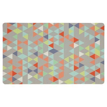 "Mohawk Loose Triangles Kitchen Rug  Gray 18""x30""  Target Extraordinary Kitchen Mats Target Design Decoration"