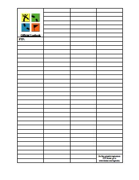 photo relating to Geocache Log Strips Printable known as Printable Geocaching Log E book Print Me! Geocaching