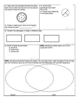 GA Common Core Math Unit 5 Assessment by Mrs D Teaches Third | TpT