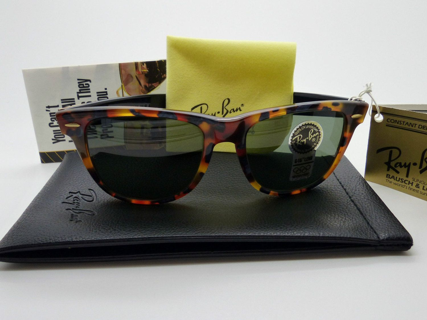 69c6465f60 Vintage B L Ray Ban Wayfarer II Limited Deluxe G15 Lens NOS Very Rare! by  VSOx on Etsy