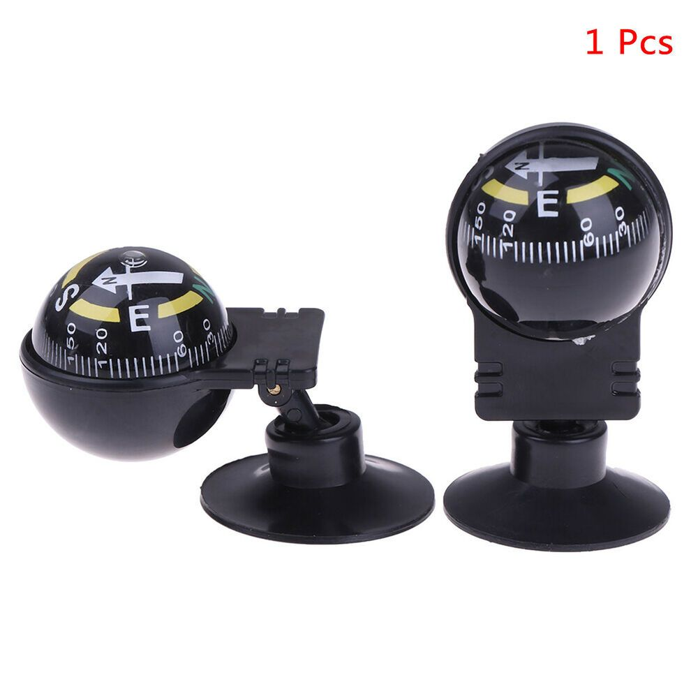 Car Compass Dashboard Ball 360 Degree Rotate Auto Dash Mount Boat Navigation