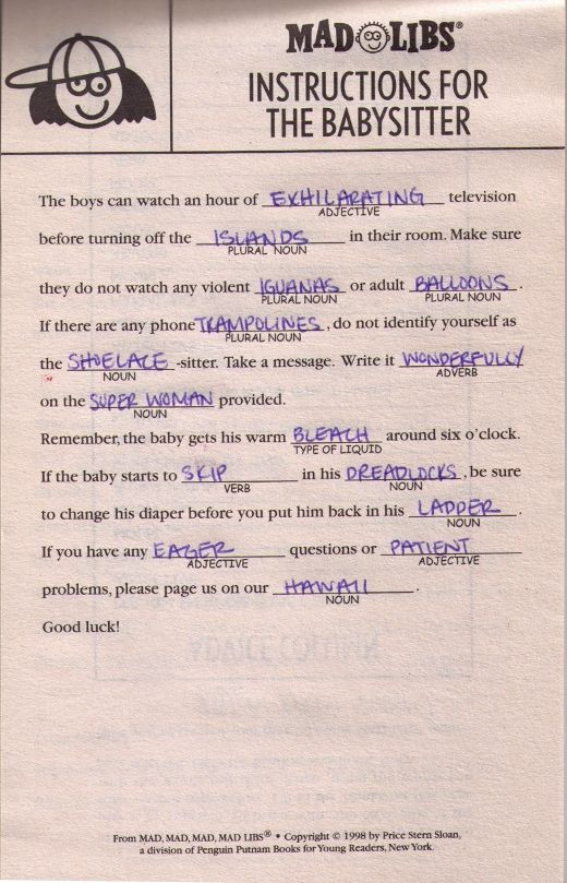 Mad libs monday love letter by natalie holbrook of nat the