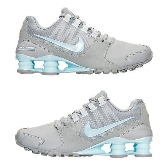 Nike Shox Avenue WomenS Leather M Running Wolf Grey - White - Glacier Blue