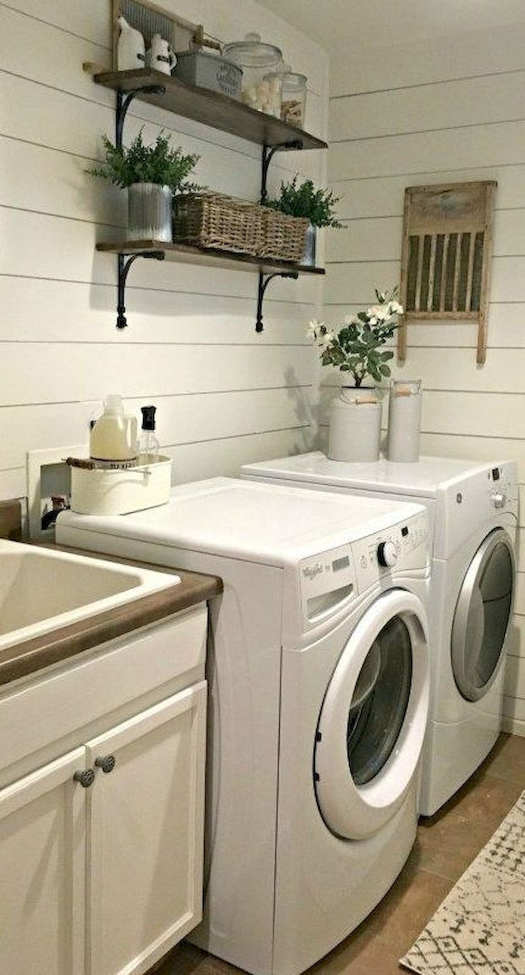 Lovely Laundry Room Wallpaper Ideas | Rustic laundry rooms ...