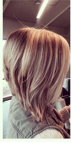 line stacked bob haircuts