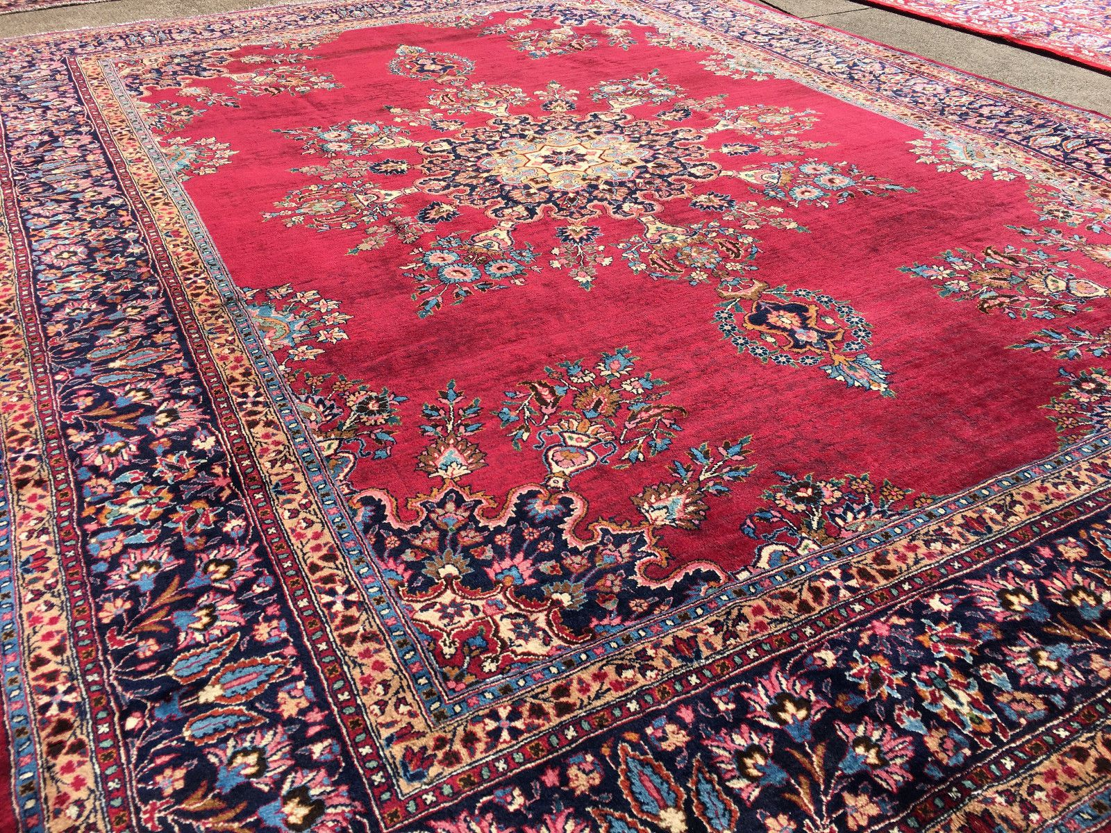10x14 Hand Knotted Persian Iran Rug Wool Kerman Area Rugs 10 X 14 Ft 9 13 Woven