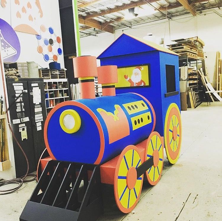 Donating Christmas Gifts: #Christmas The Christmas Train Built In Our #scenicshop