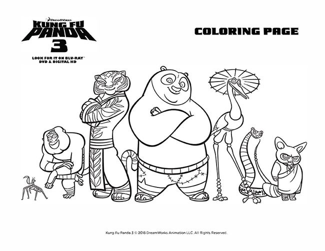 Kung Fu Panda Coloring Pages | Coloring Pages | Pinterest | Kung fu ...
