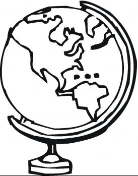 Globe Coloring Page  lots of coloring printouts We will color