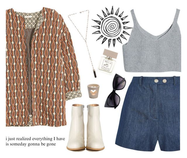 """""""One day, but not now."""" by mllebond ❤ liked on Polyvore featuring H&M, Topshop Unique, MM6 Maison Margiela, Natalie B, Bella Freud, CO, outfit and autumnstyle"""