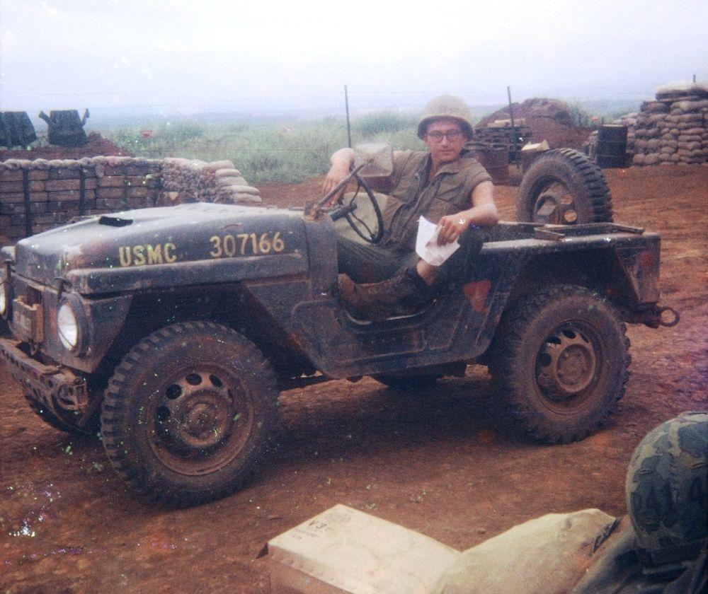 Usmc Jeep And Marine Vietnam War Vietnam War Vietnam History War
