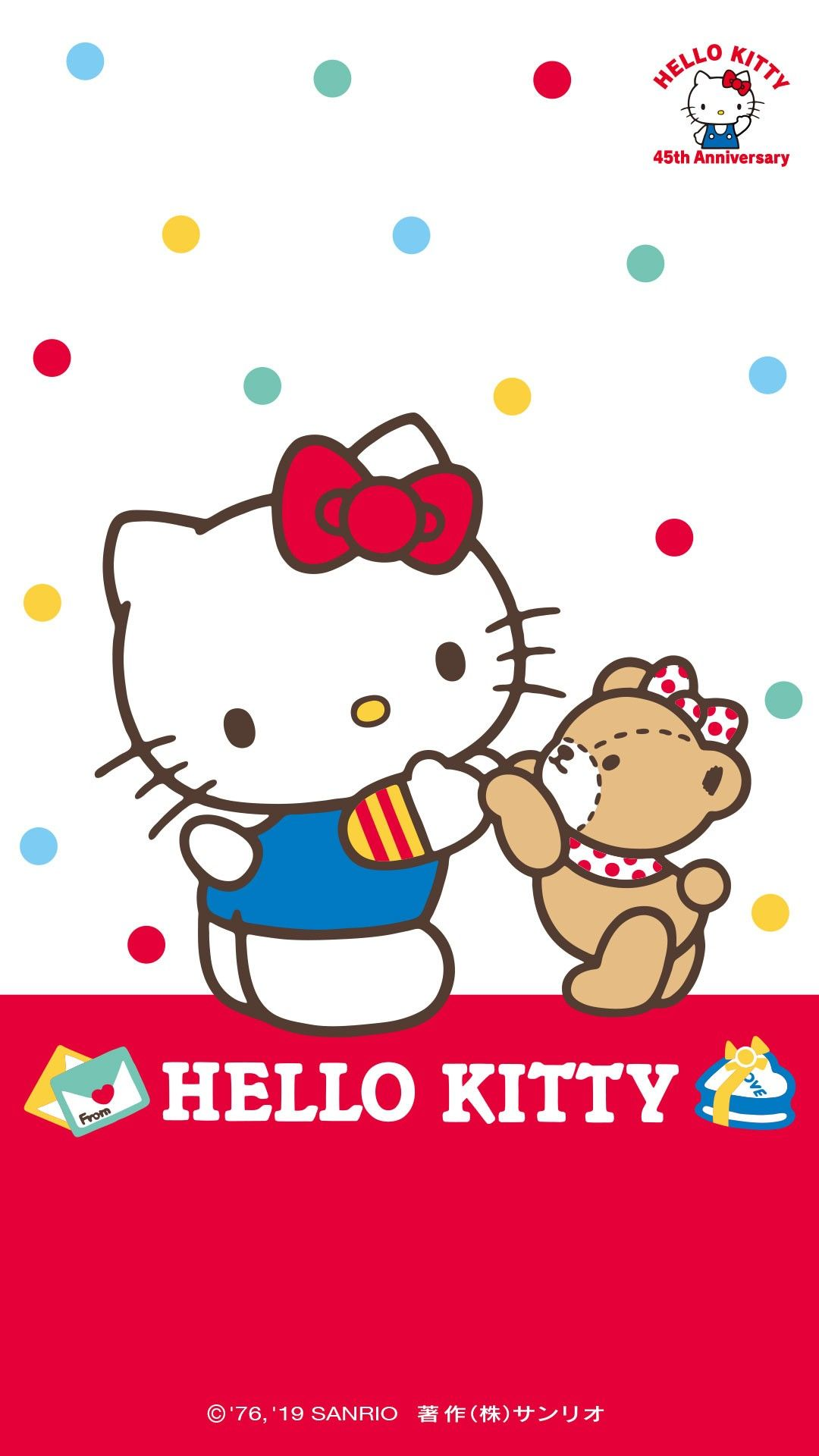 Hello Kitty 45th Anniversary Wallpaper Cute Kitty Hello