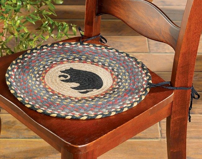 Black Bear Chair Pad