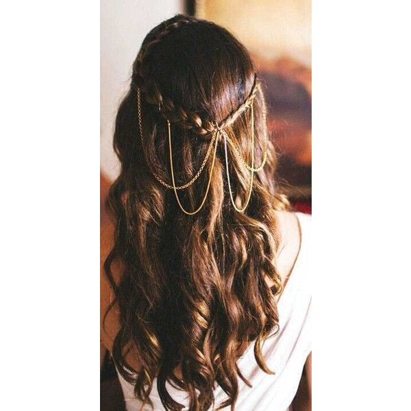 20 Elegant Hairstyles for Long Hair ❤ liked on Polyvore featuring beauty products, haircare and hair styling tools