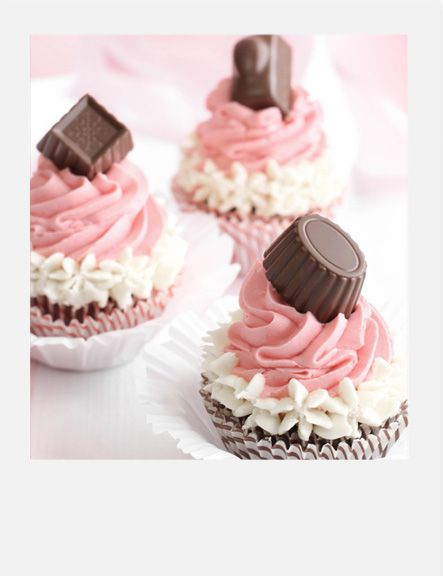 Neapolitan Bonbon Cupcakes -- only makes a few so you don't have to worry about eating a ton!