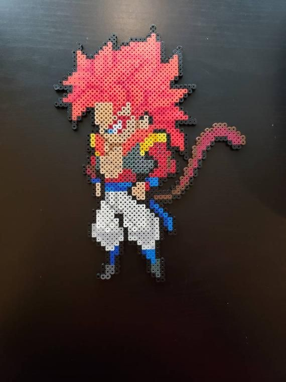 Ssj4 Gogeta Perler Sprite Etsy In 2020 Pixel Dragon Minecraft Pixel Art Pixel Art
