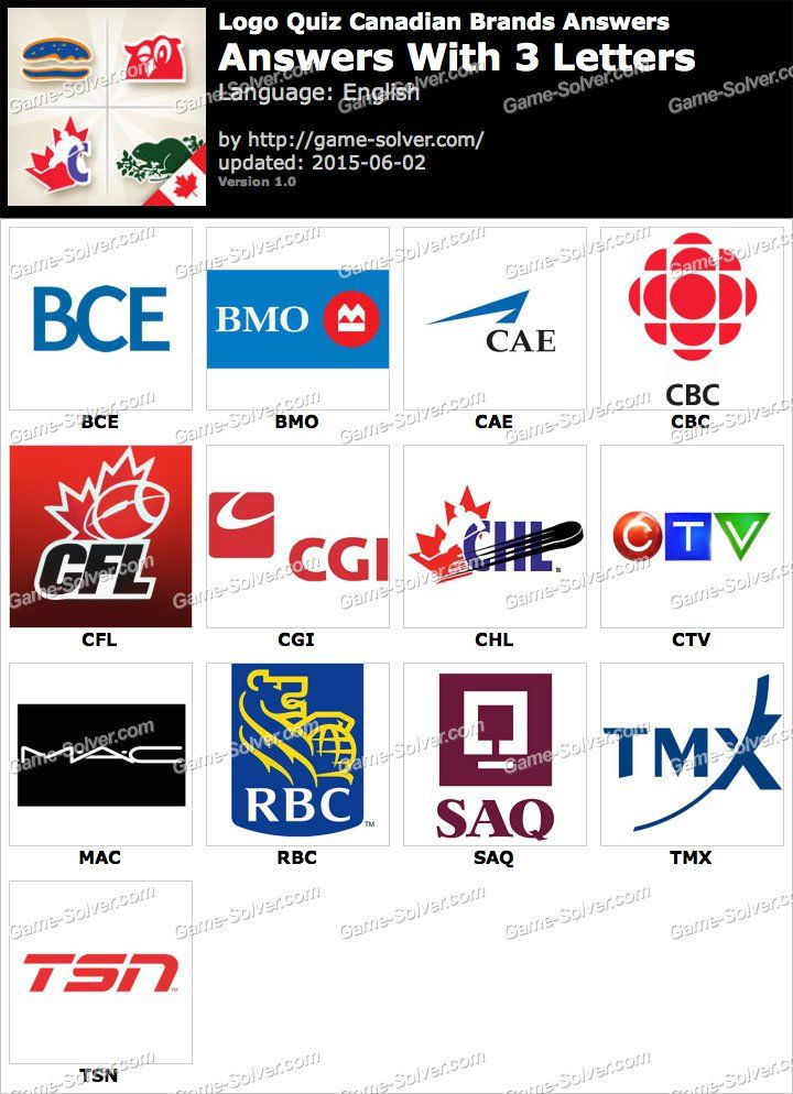Logo Quiz Canadian Brands with 3 Letters Canadian logo
