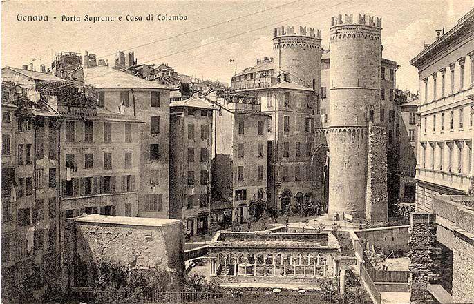 Genova porta soprana e casa di colombo foto storiche for Foto case antiche