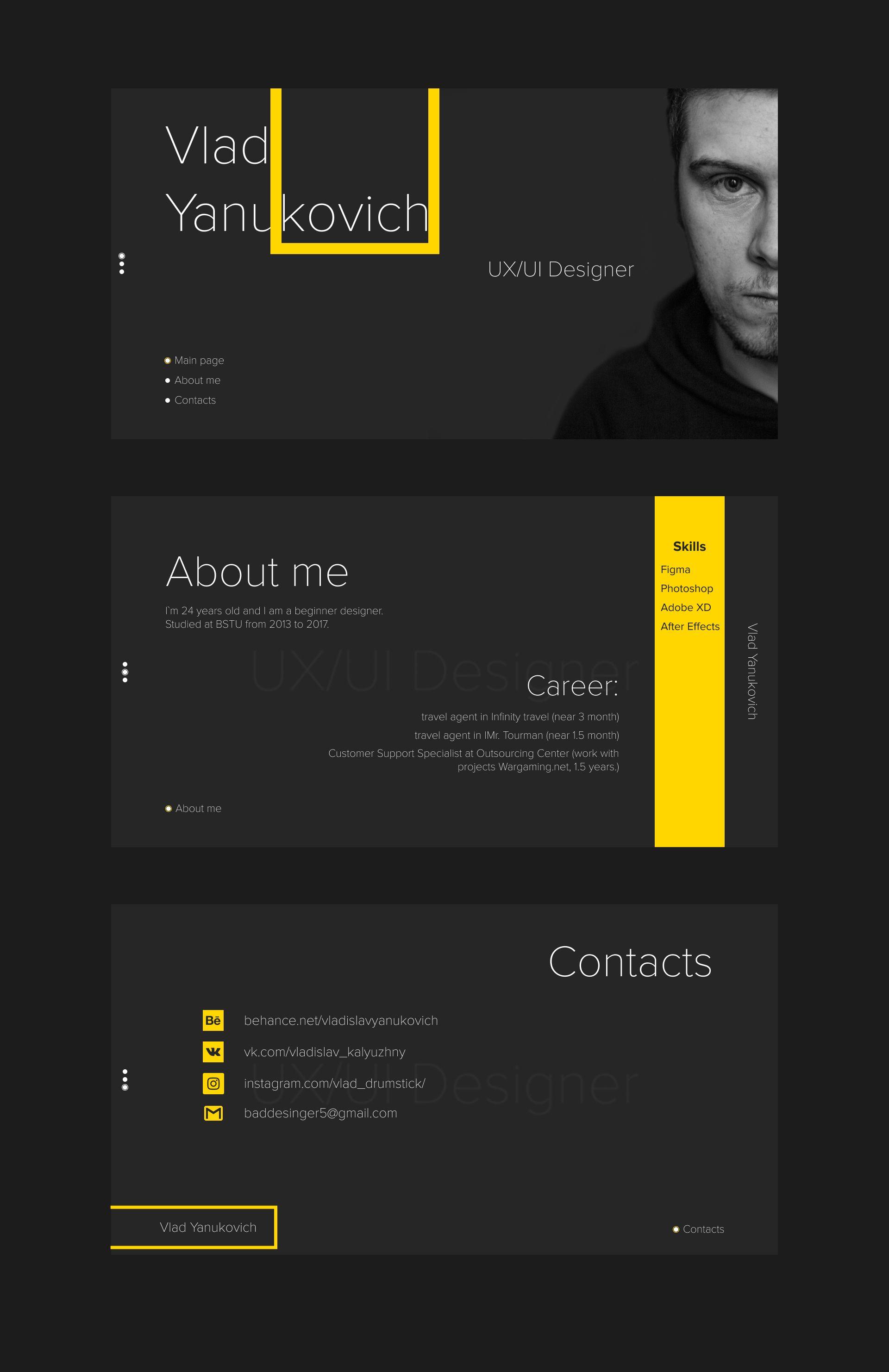 25+ Adobe xd resume template Resume Examples