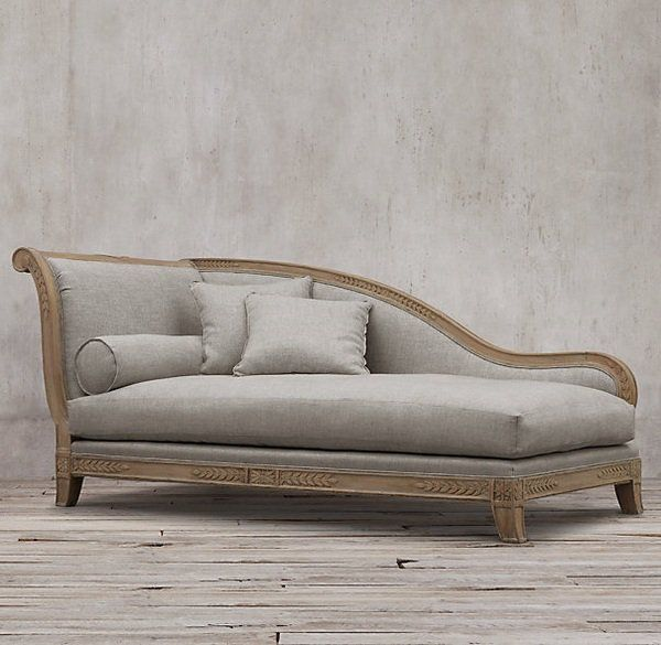 vintage furniture fainting sofa ideas wood frame gray upholstery