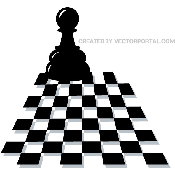 Chess pawn vector art