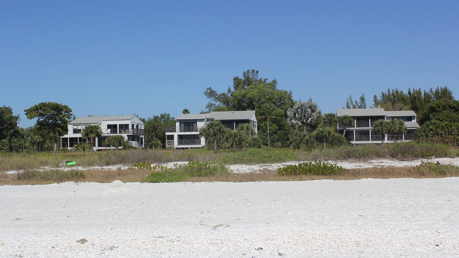 View of Clamshell Complex from Gulf on Sanibel, Island