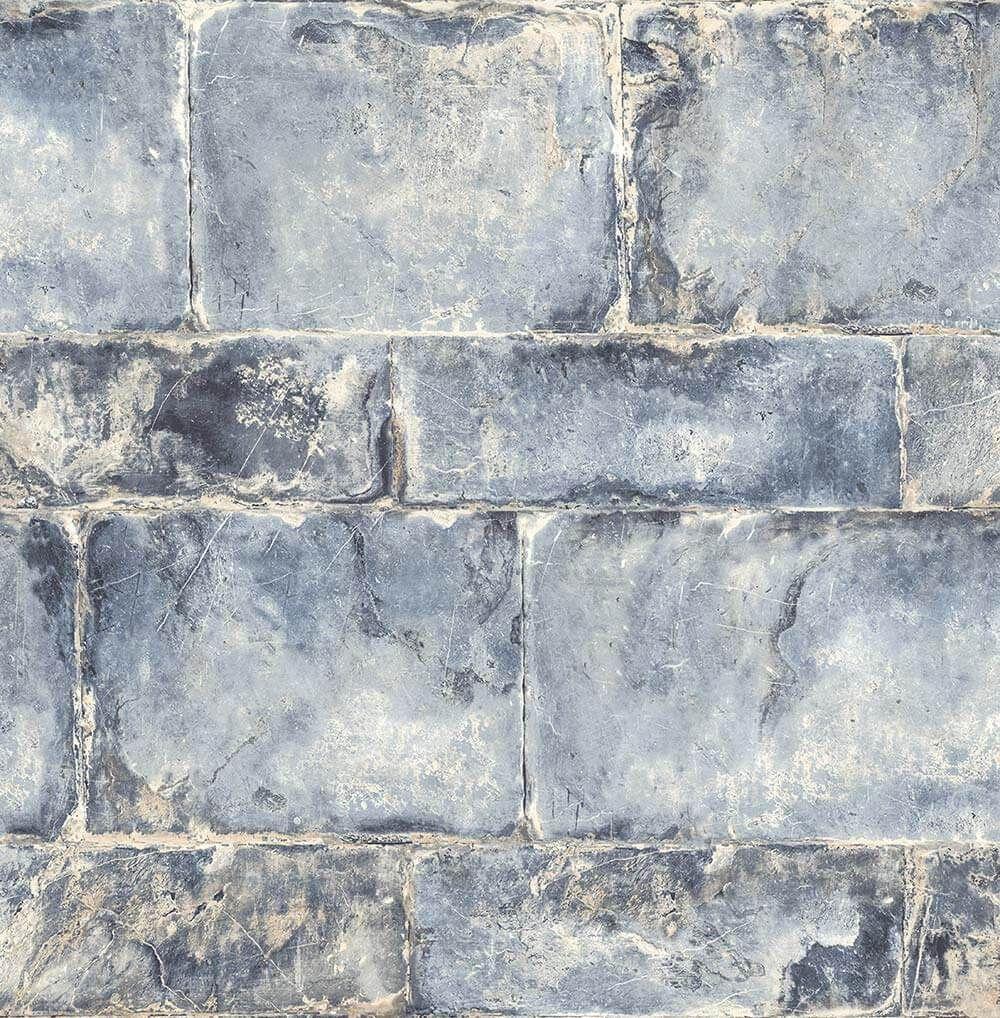 Provence Concrete Block Wallpaper Solar Fj020129 Brick Wallpaper Blue Blue Grey Wallpaper Blue Wallpapers